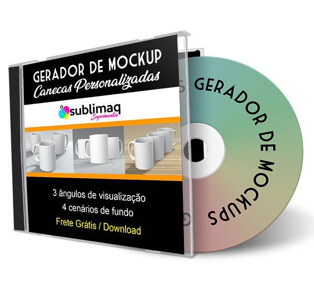 Gerador de Mockup PSD para Trio de Canecas em 3 Cenários - Arquivo de download