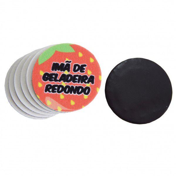 Imã de Geladeira Pet Sublimático Redondo (5,0 cm) - Cartela com 15 unidades