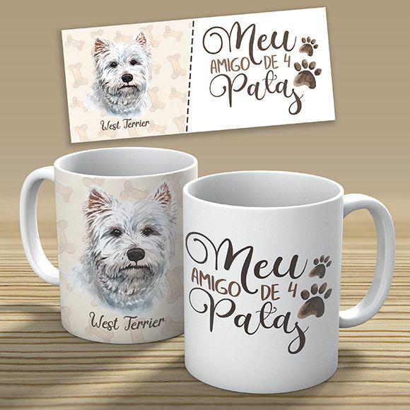 Kit 22 Artes para Canecas - Raças de Cachorros