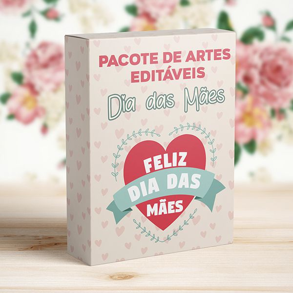 Kit 30 Artes Dia das Mães para Canecas