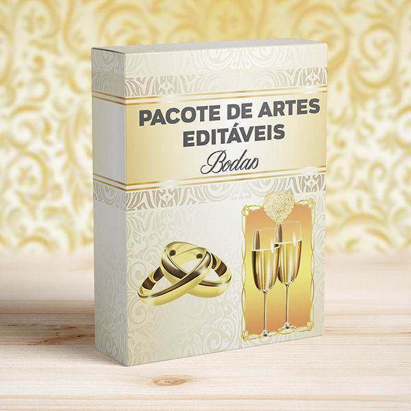 Kit 6 Artes Bodas para Canecas