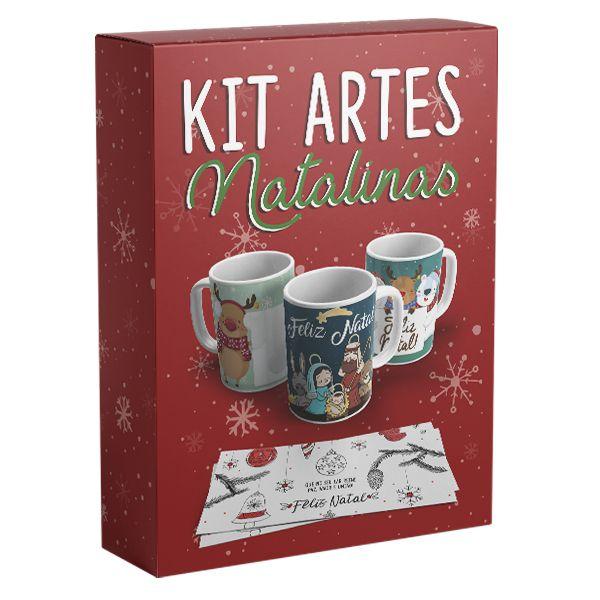 Kit 12 Artes Natalinas para Canecas