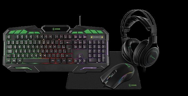 Kit  Gamer Xzone  Led RGB GTC02 4 em 1 - Teclado, Moude, Headset e Mouse pad emborrachado