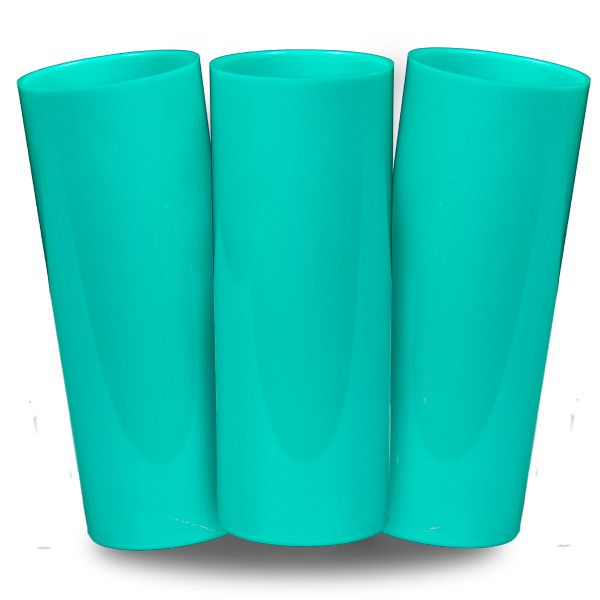 Long Drink Prêmium - Azul Tifany - Espessura 2mm - Cx c/ 100 Unidades