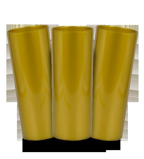 Long Drink Prêmium - Dourado - Espessura 2mm - Cx c/ 12 Unidades