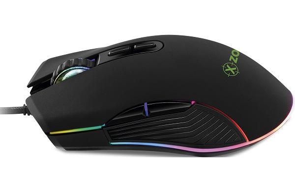 Mouse Gamer Xzone RGB - 4800 DPI Led RGB Sensor Óptico Pixart 3325 - 10 milhões de cliques