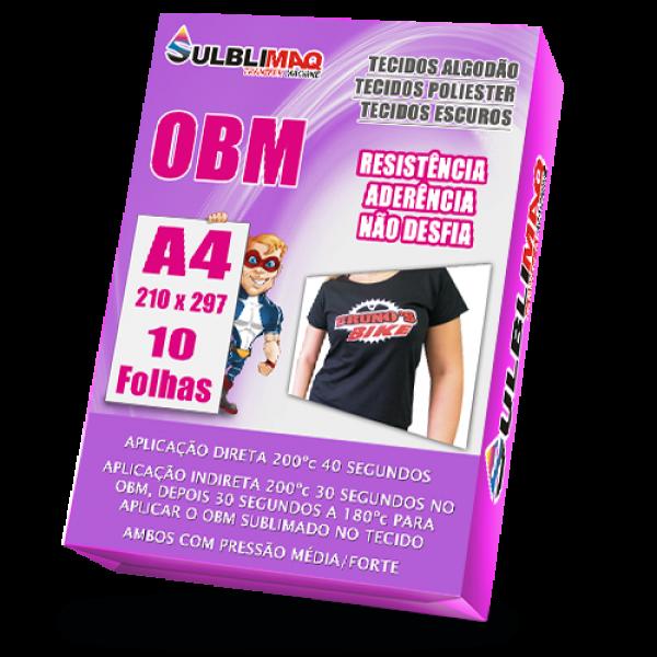 OBM A4 para Sublimação em Camisetas de Algodão e Escuras - 10 Un