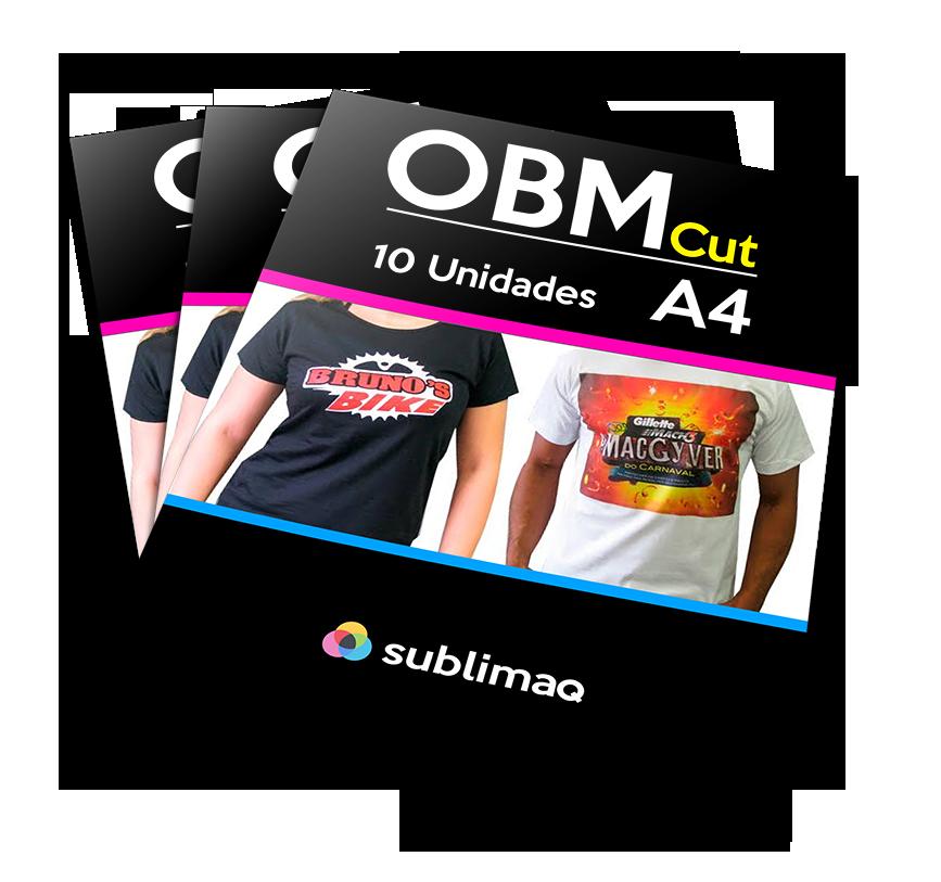OBM CUT A4 para Sublimação em Camisetas de Algodão e Escuras - 10 Un