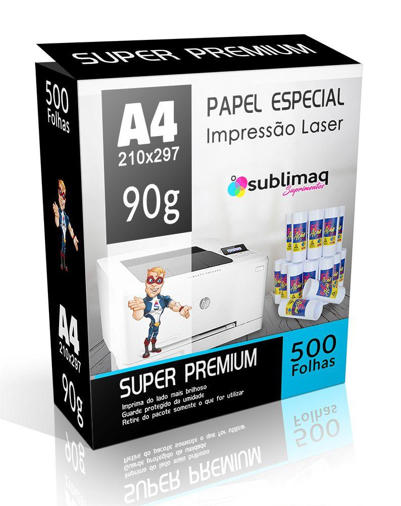 Papel Transfer  Laser - Super Prêmium - Superfícies Rígidas - Pacote c/ 500 folhas A4 - 90g