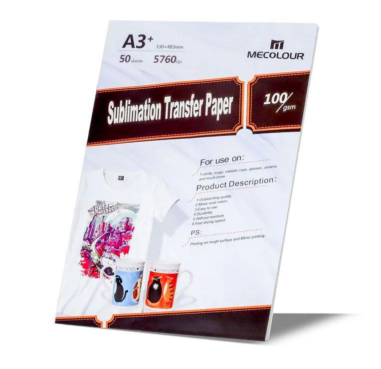 Papel Sublimático Fundo Rosa - A3 Pacote com 50 folhas