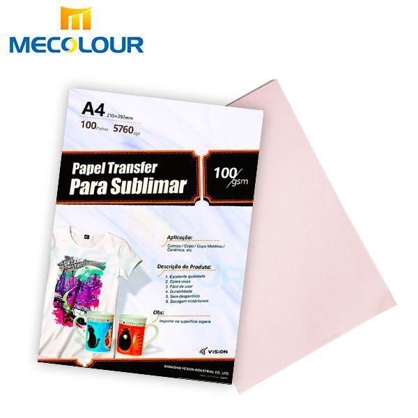 Papel Sublimático Original Mecolour  A4 Pacote com 100 folhas