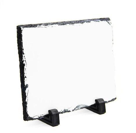 Porta Foto - Pedra Ardosia para Sublimação - Quadrado - 15x15