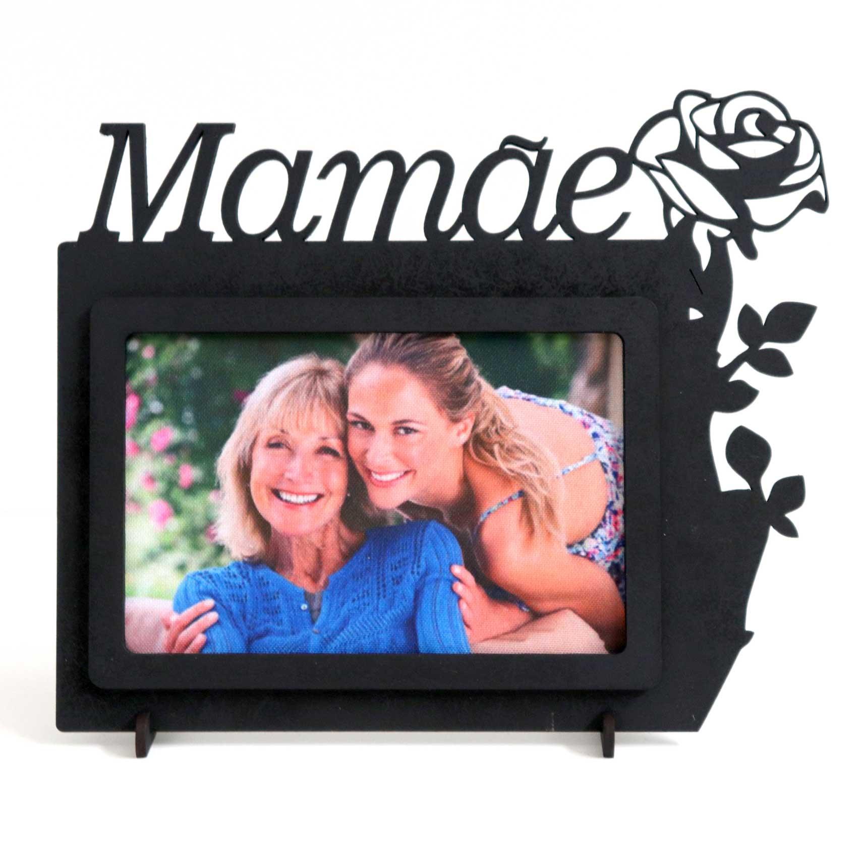 Porta Fotos MDF - Com Frase Mamãe
