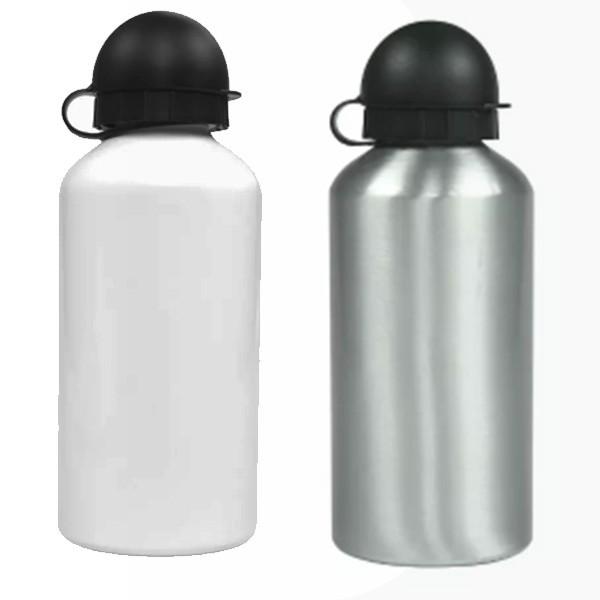 Squeeze Aluminio Branco - Tampa Bolinha com Bico Dosador - 500 ml - Sublimação