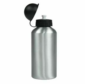 Squeeze Aluminio Prata - Tampa Bolinha com Bico Dosador - 500 ml - Sublimação