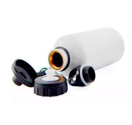 Squeeze Branco C/ 2 Tampas 500 ml - Possui bico dosador e tampa com mosquetão - Aluminio para sublimação