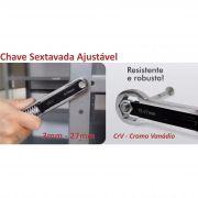 Chave Sextavada Ajustavel de 3-27mm