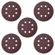 Disco Lixa Perfurado 125mm Com Velcro | 5pçs