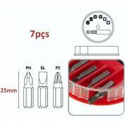 Jogo Bits Adaptador Magnetico c/ 7pçs