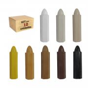 Kit de Giz Corretivo Alto Atack para Mdf e Móveis Com 10 peças