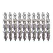 Jogo de bits CrV PH2 x 45mm duplo de torção imantados para Parafusadeira c/ 10 unidades