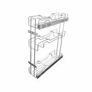 Porta Óleo Triplo Cromado com Trilhos - 12,5cm X 53,0cm X 45,0cm