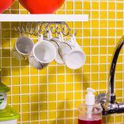 Porta Xícaras Cromado para Fixação no Teto