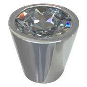 Puxador de Gaveta Botão Cone Cristal