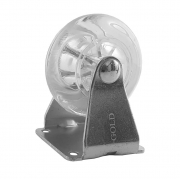 Rodizio Gel Transparente Fixo 50mm para Móveis