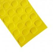 Tapa Furo Em Adesivo Amarelo Citrino Cristallo 13mm