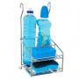 Porta Detergente Sabão e Esponja Cromado aéreo