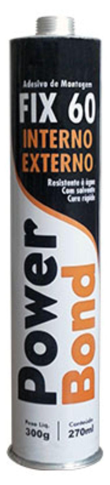 Adesivo de montagem FIX 60 300g - similar a Cola Prego PL600