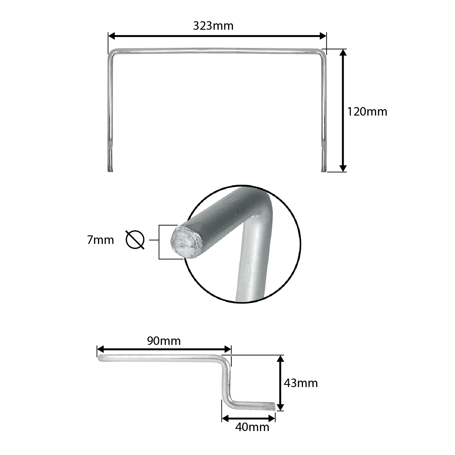 Arco para Colchão de Cama Box 32cm Cromado