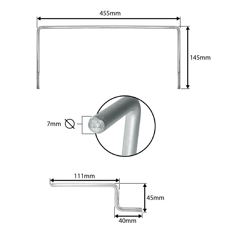Arco Aparador Cromado para Colchão de Cama Box 45cm