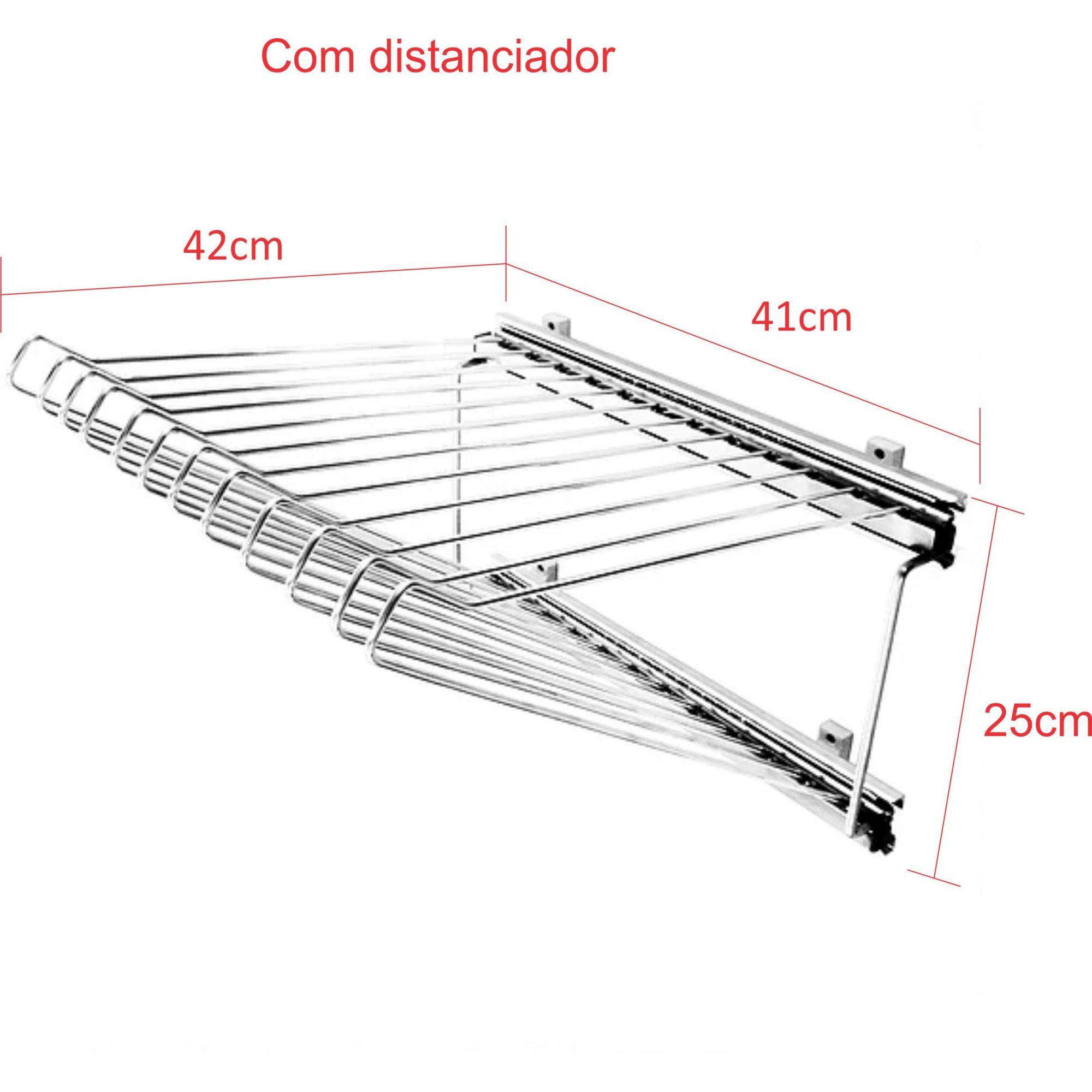 Calceiro Lateral Deslizante com 12 varetas em aço carbono Cromado