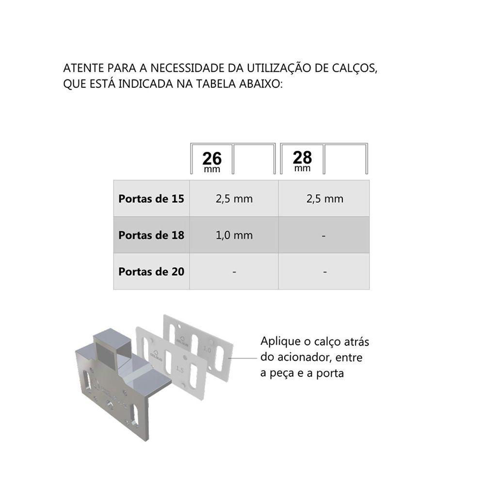 Conjunto Amortecedor 50 BAR c/ Acionador para 1 Porta 26/28
