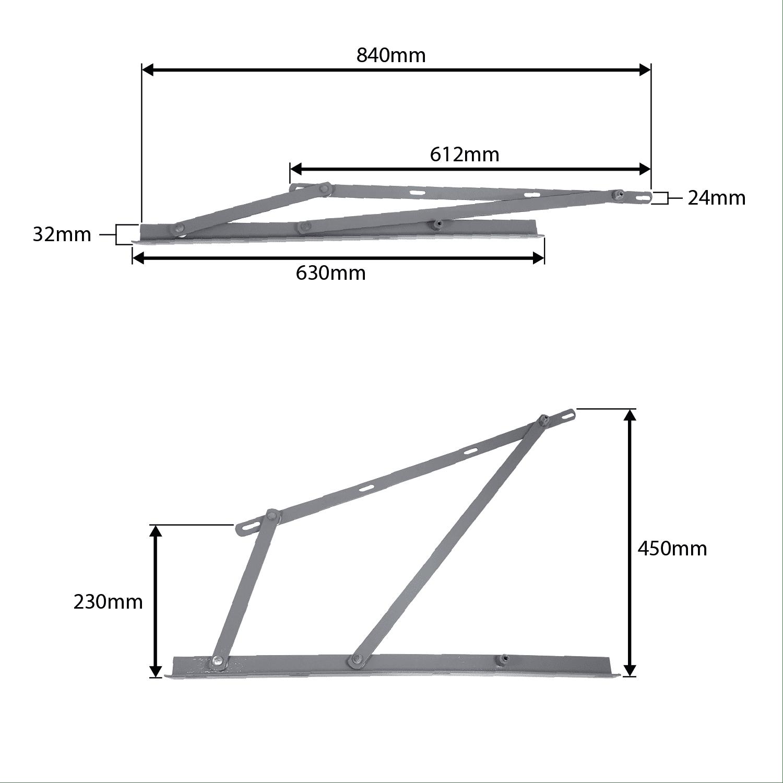 Conjunto de Articulação para Cama Box Baú Casal