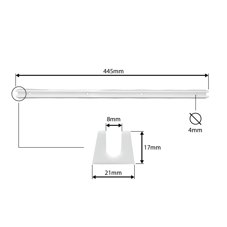 Corrediça Plástica 445mm Branca