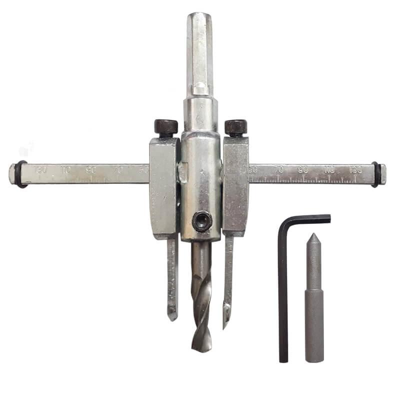 Furador Circular 30-130mm Para Madeira Bailarina com Metal Duro