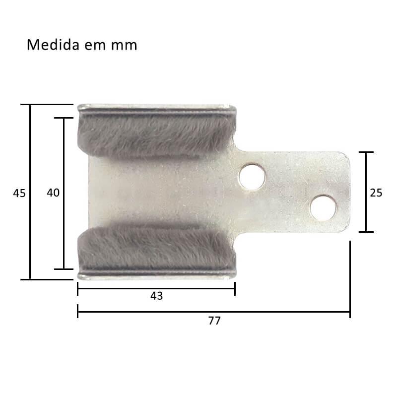 Guia Prático Inferior Externo 40mm para Porta de Correr