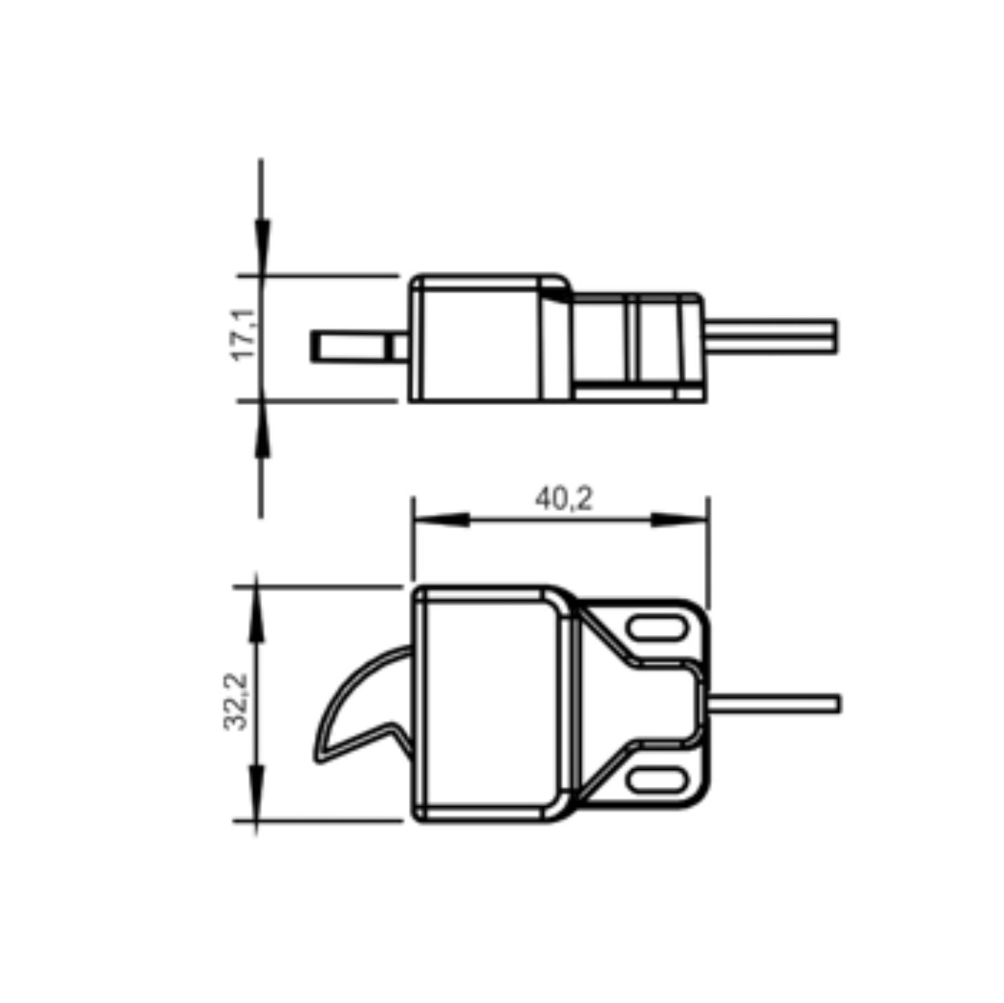 Interruptor Automático para portas e gavetas