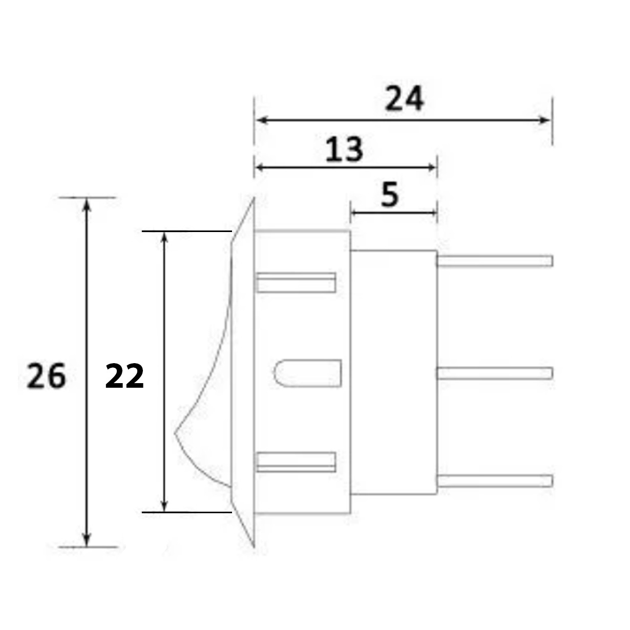 Interruptor Botão Redondo Paralelo com rabicho para Móveis