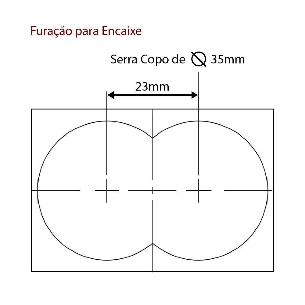 Interruptor Paralelo Retangular para Móveis - Módulo em Cores