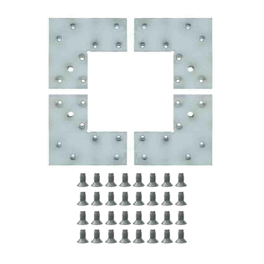 Jogo de Esquadreta fixador de perfil 41mm 8 furos 010/040