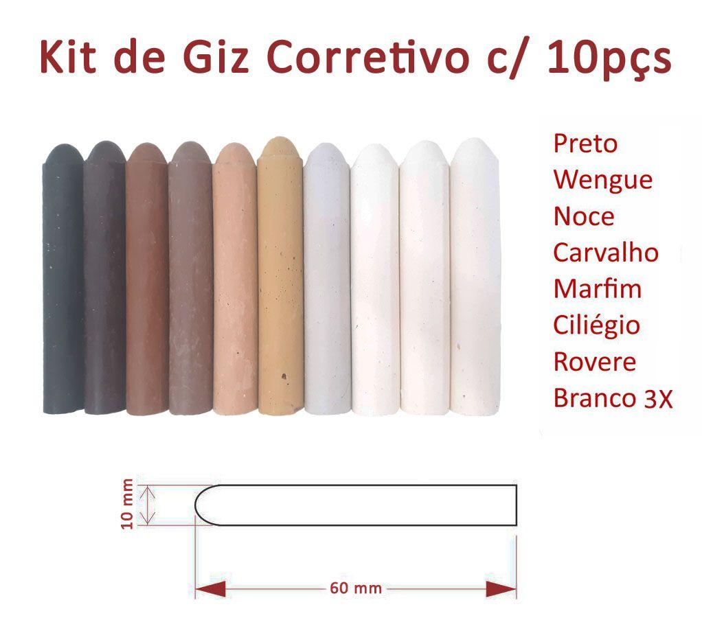 Kit Giz Corretivo Completo c/ 10pçs