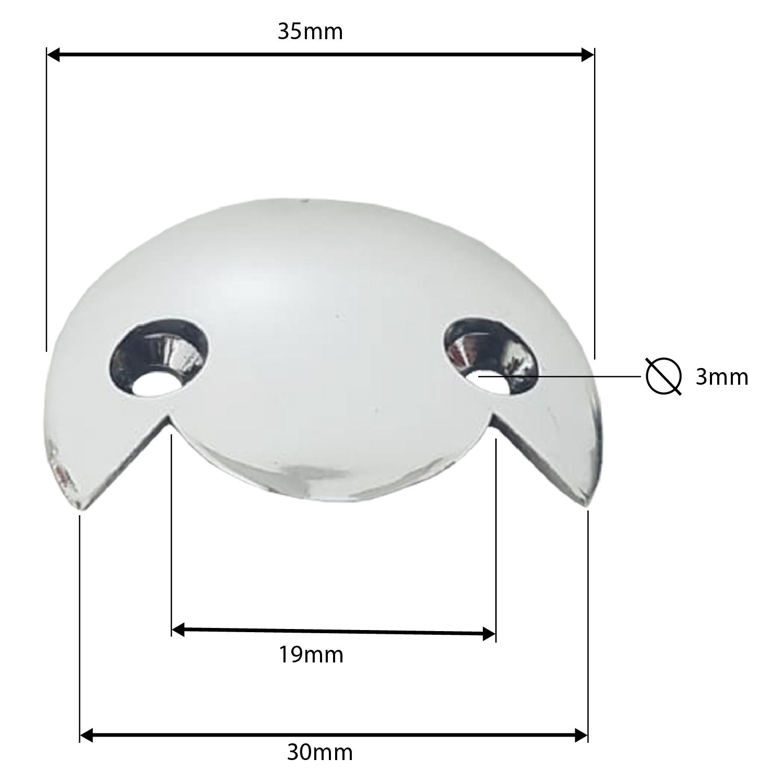 Kit Suporte Cantoneira de plástico para Fixação de Espelho 90°