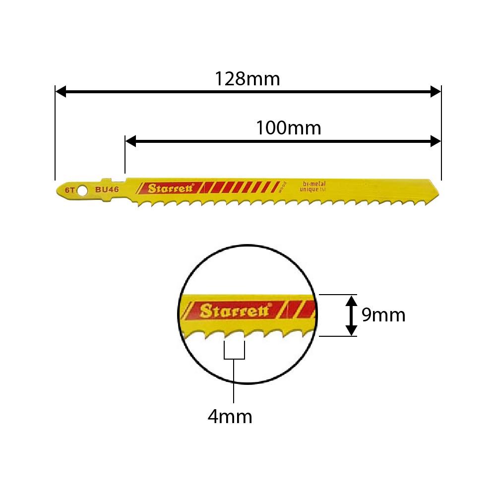 Lâmina Tico-Tico Starrett 100mm 6 Dentes BU46 - 2pçs