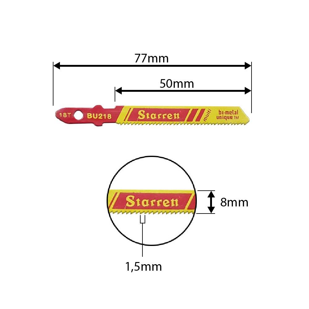 Lâmina Tico-Tico StarreTt 50mm 18D BU218-2pçs