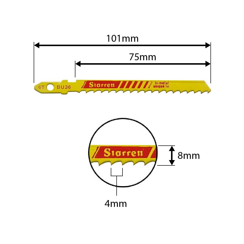 Lâmina Tico-Tico Starrett 75mm 6D BU36 - 2pçs