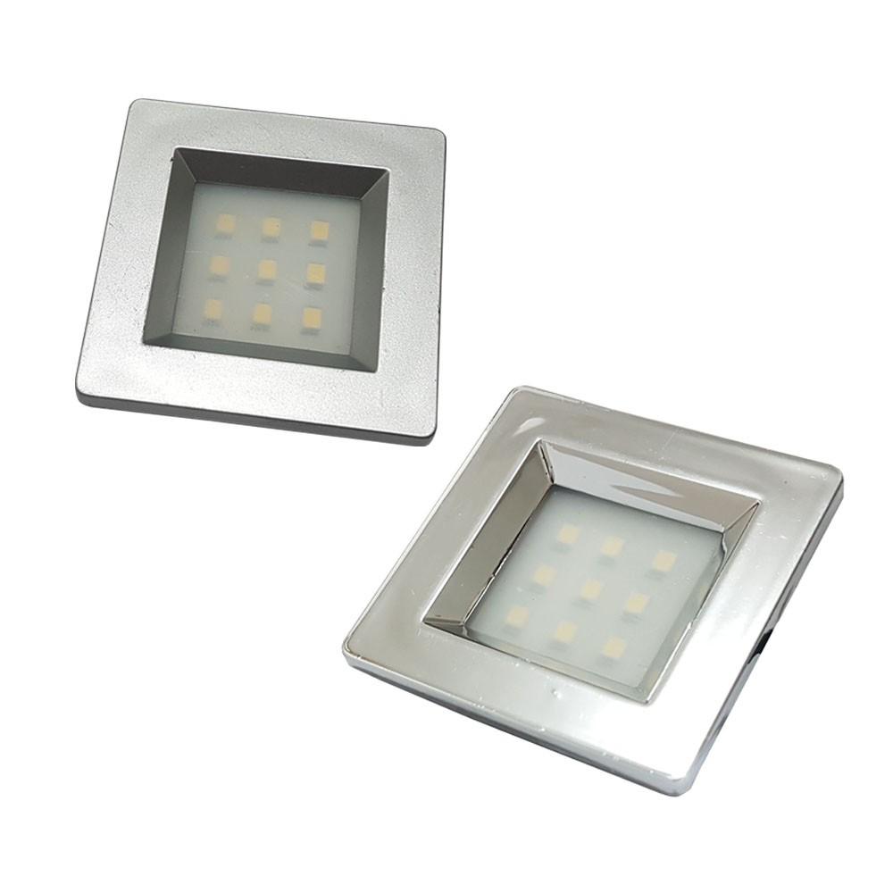 Luminaria Quadrada Embutida Com 9 Leds frio 51mm 13409